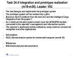 task 24 4 integration and prototype realization m19 m30 leader viu