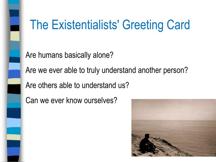 The Existentialists' Greeting Card