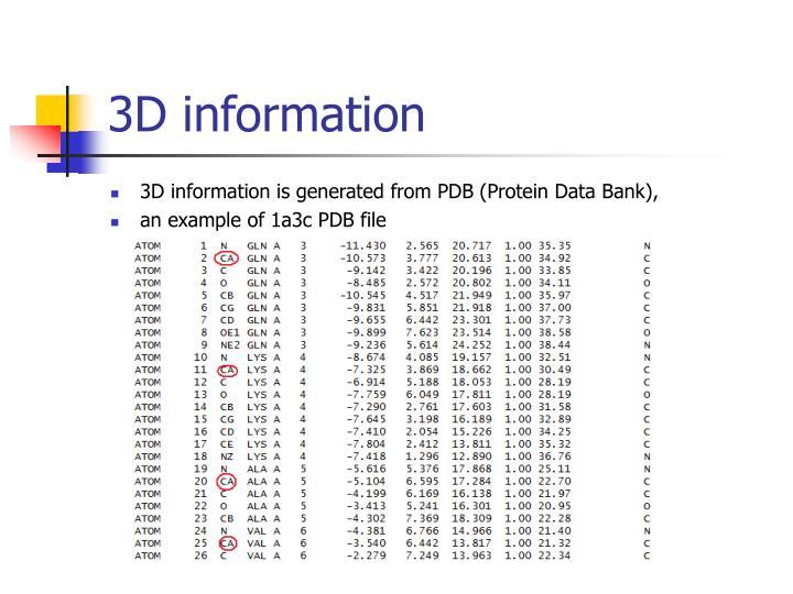 3D information