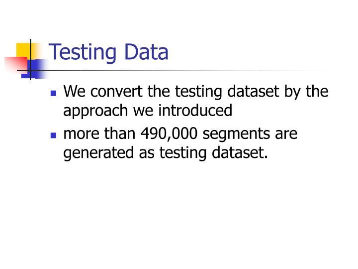 Testing Data