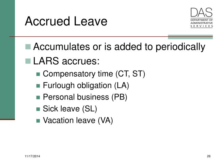 Accrued Leave