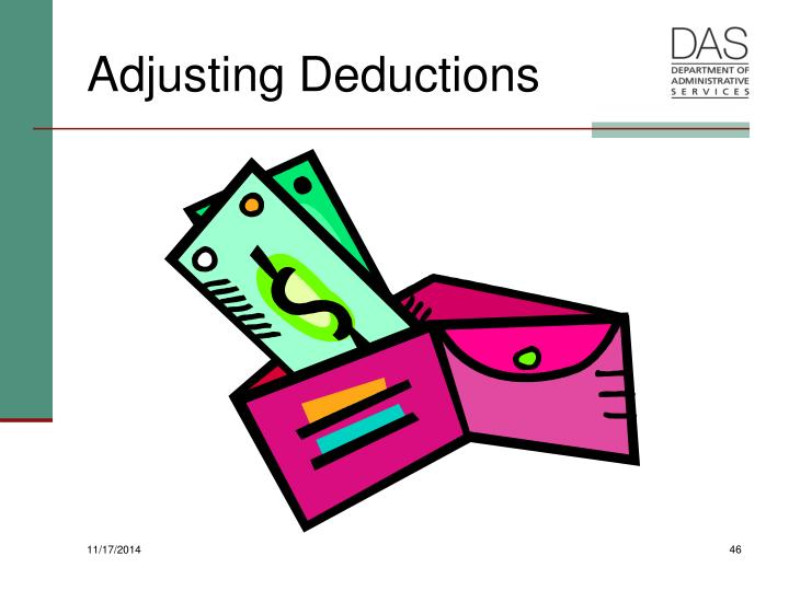 Adjusting Deductions