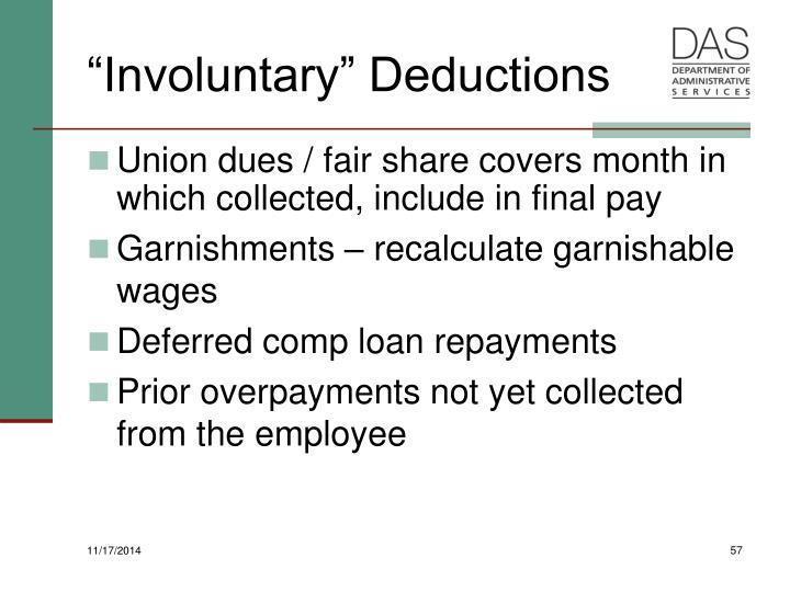 """Involuntary"" Deductions"