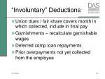 involuntary deductions