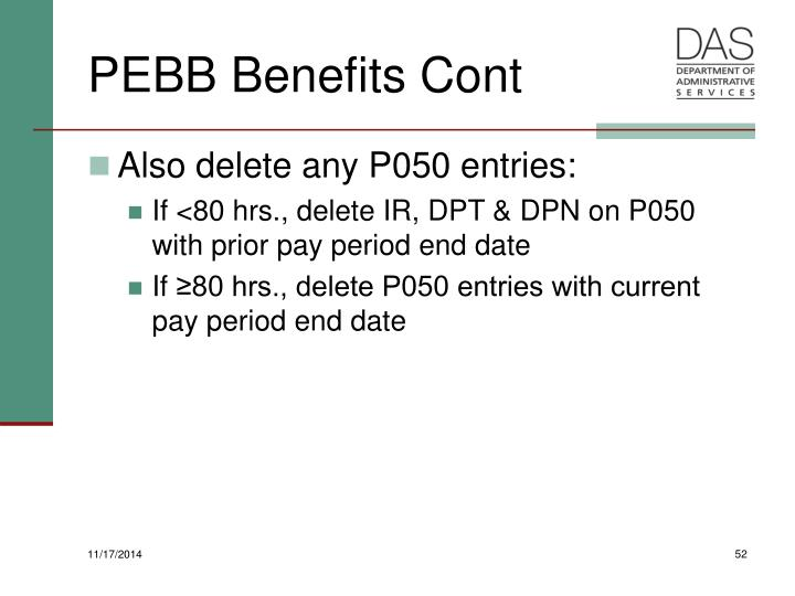 PEBB Benefits Cont
