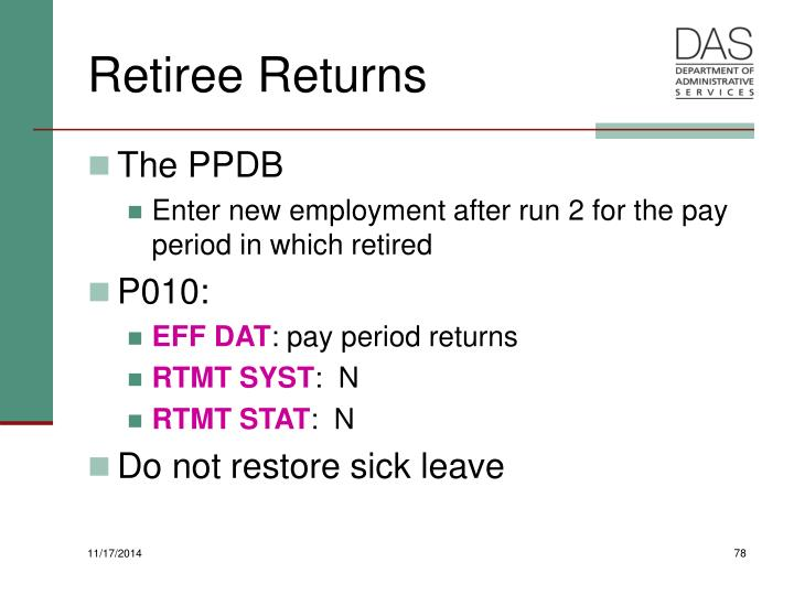 Retiree Returns