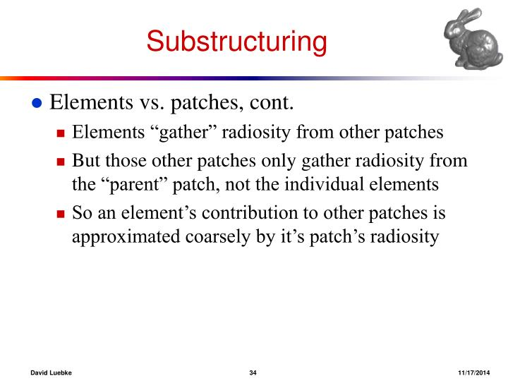 Substructuring