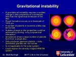 gravitational instability