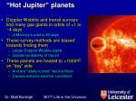 hot jupiter planets