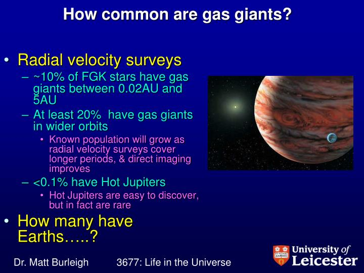 How common are gas giants?