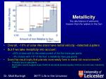 metallicity the abundance of elements heavier than he relative to the sun