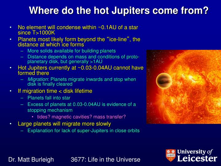 Where do the hot Jupiters come from?