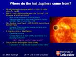 where do the hot jupiters come from