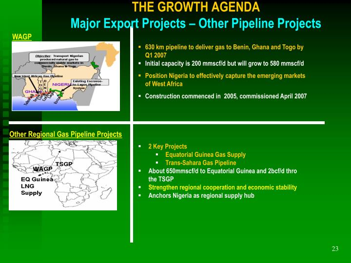 THE GROWTH AGENDA