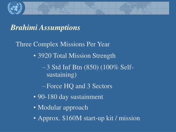 Brahimi Assumptions