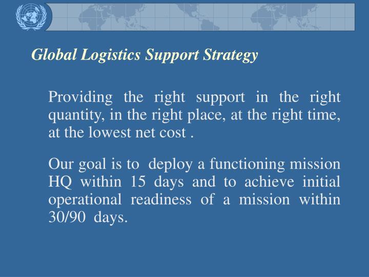 Global Logistics Support Strategy