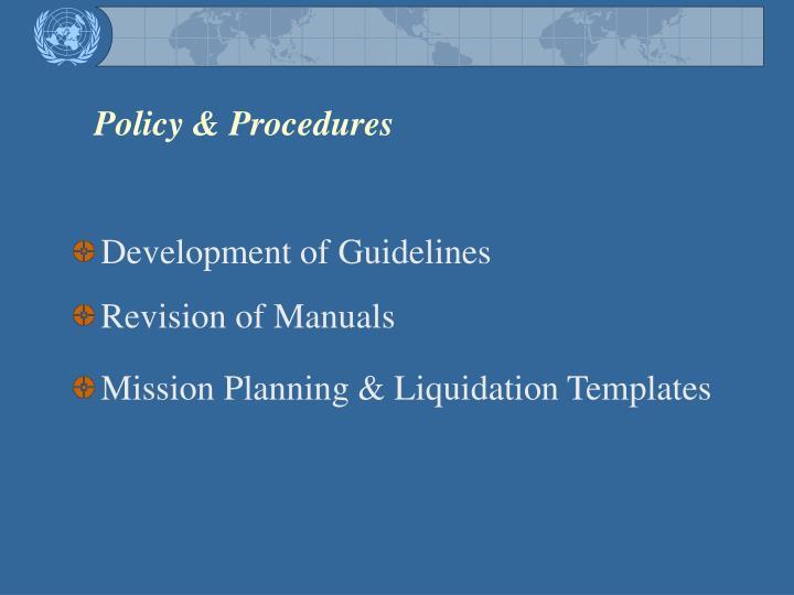 Policy & Procedures