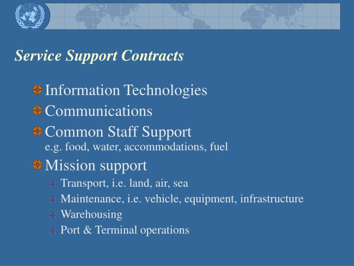 Service Support Contracts