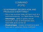 command pcpe