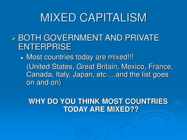MIXED CAPITALISM
