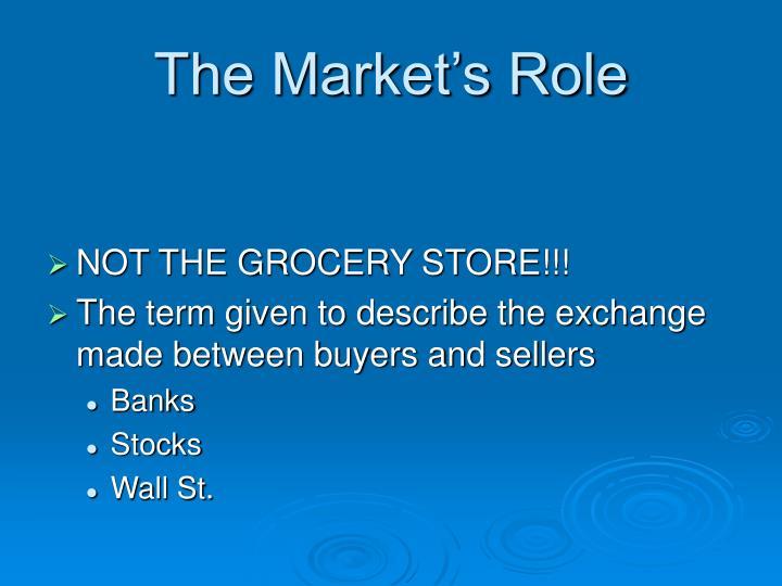 The Market's Role