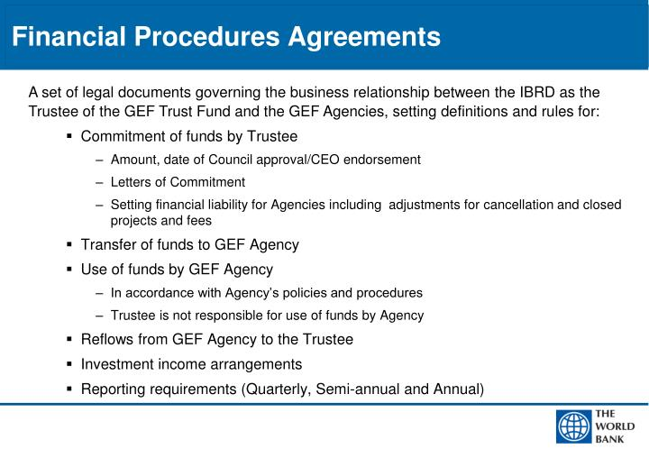 Financial Procedures Agreements