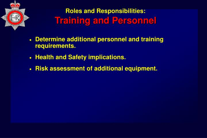 Training and Personnel