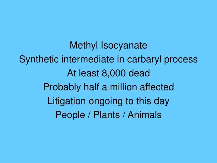 Methyl Isocyanate