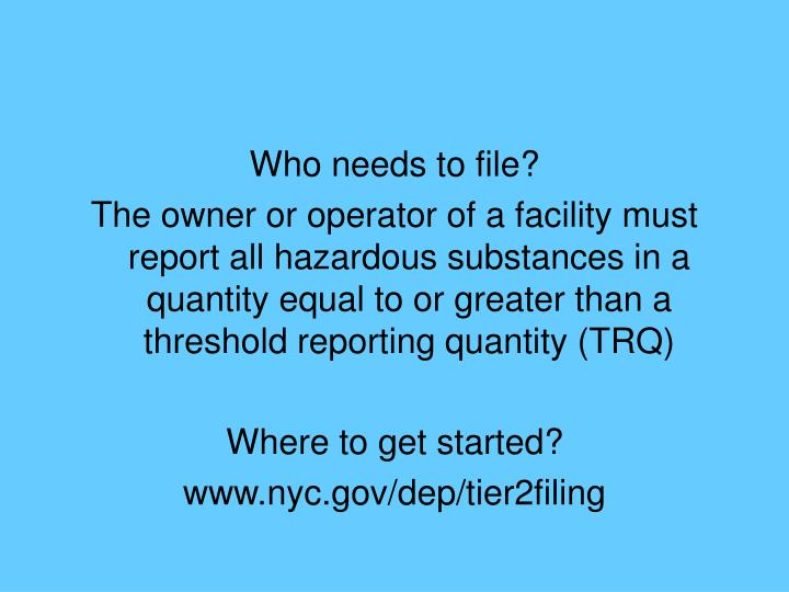 Who needs to file?