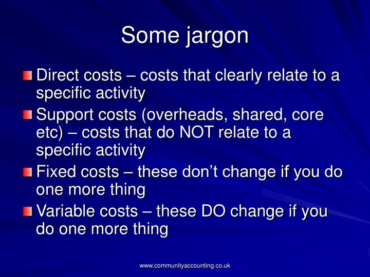 Some jargon