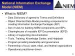 national information exchange model niem1
