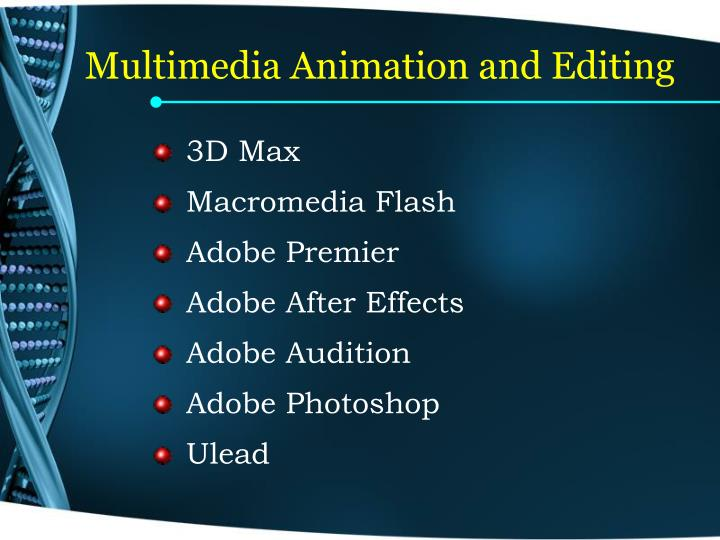 Multimedia Animation and Editing