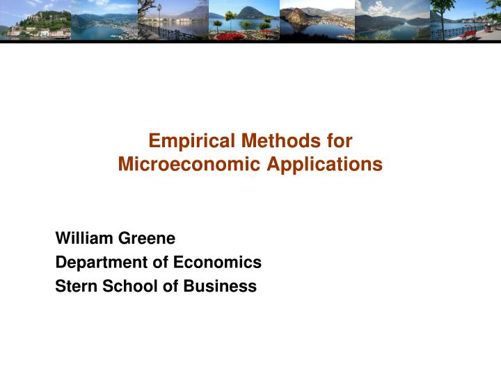 empirical methods for microeconomic applications