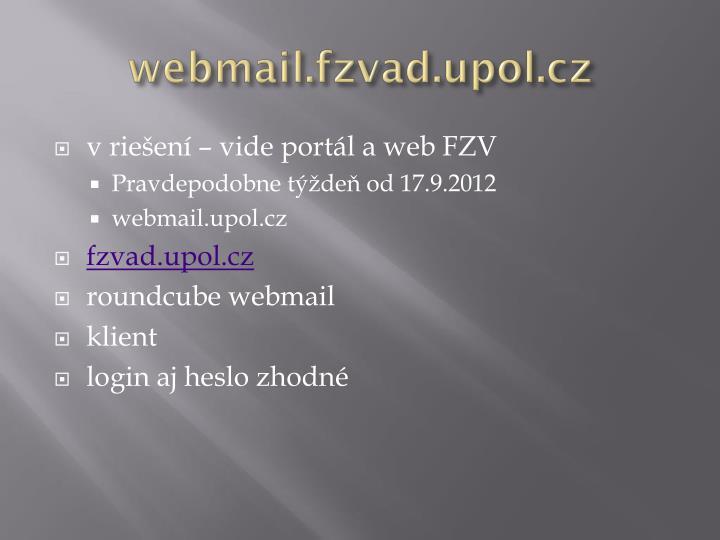 webmail.fzvad.upol.cz