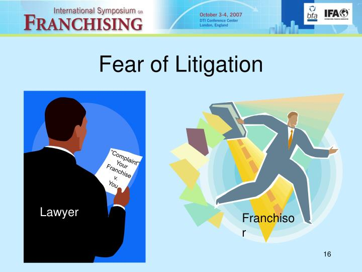 Fear of Litigation