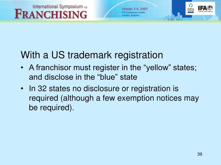 With a US trademark registration