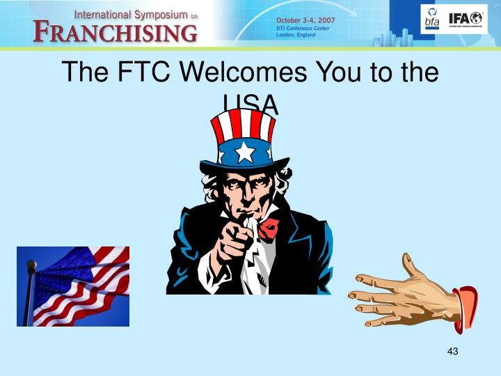 The FTC Welcomes You to the USA
