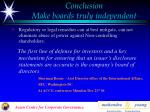 conclusion make boards truly independent