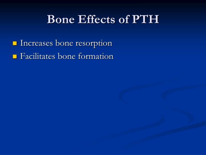 Bone Effects of PTH