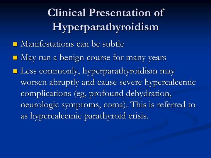 Clinical Presentation of