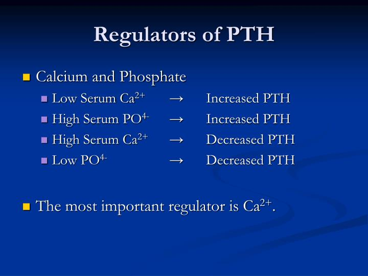 Regulators of PTH