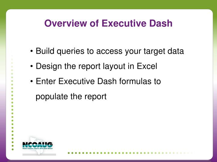 Overview of Executive Dash