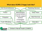 what does ecirs triage look like