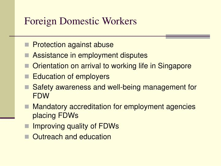 Foreign Domestic Workers