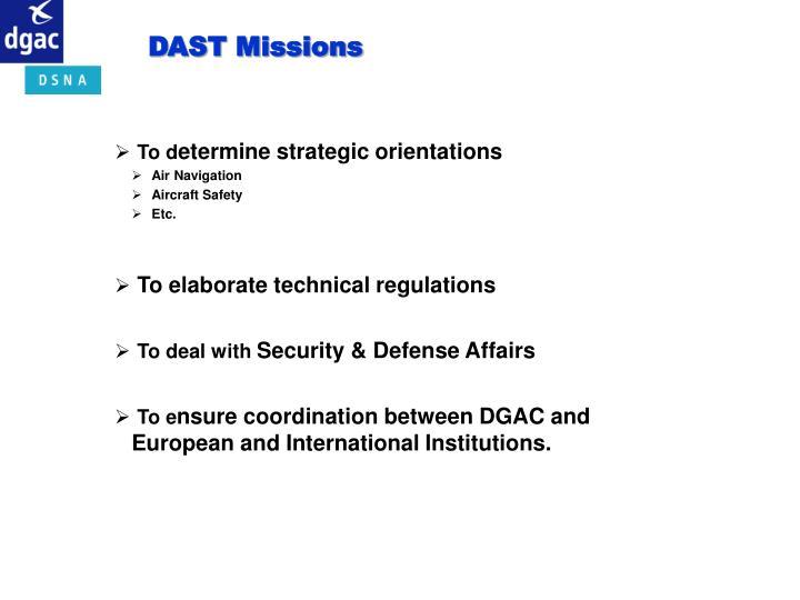 DAST Missions