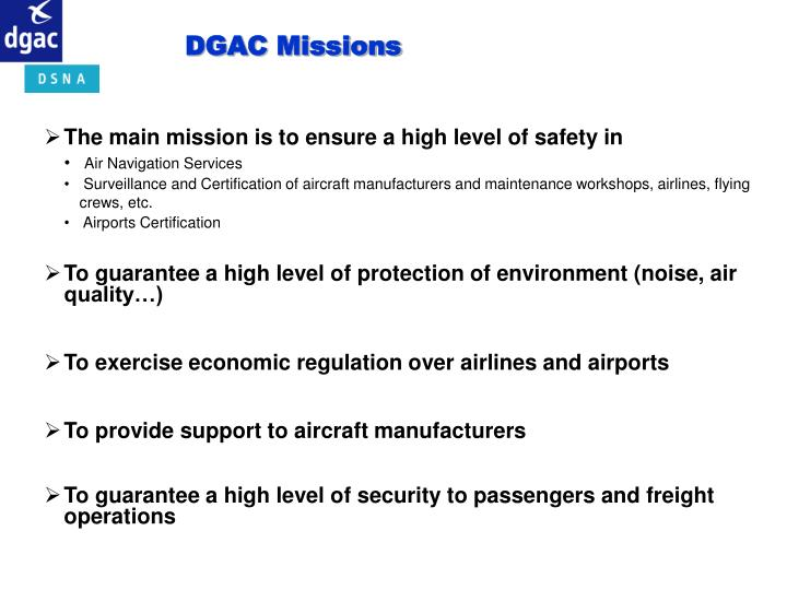 DGAC Missions