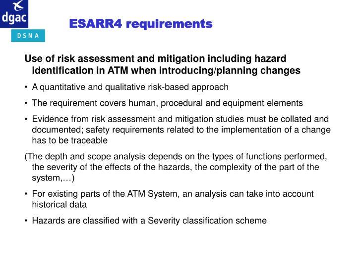 ESARR4 requirements