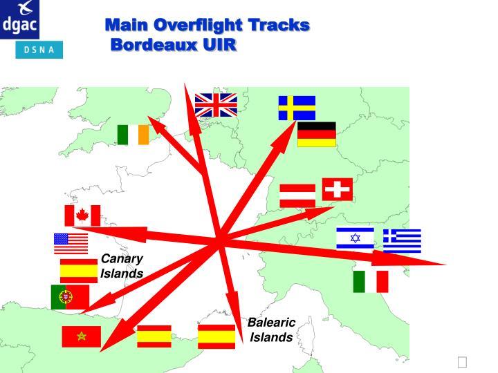 Main Overflight Tracks