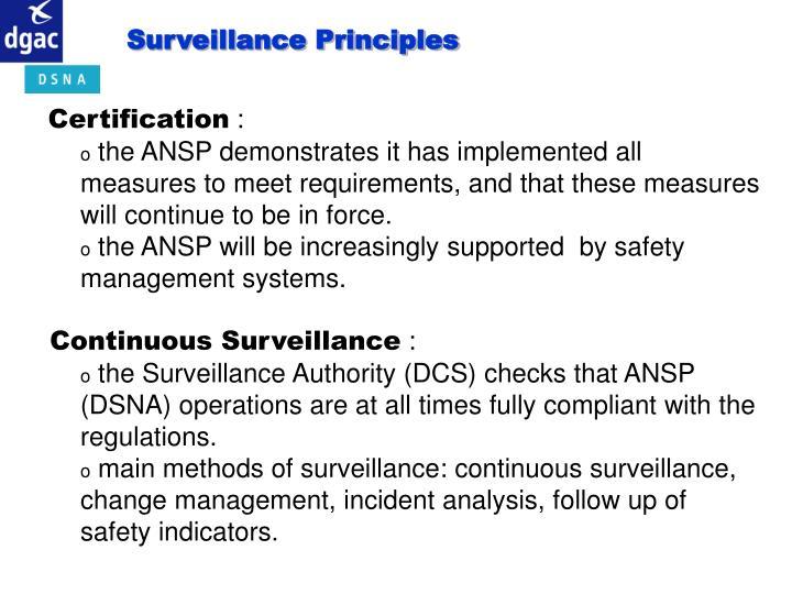 Surveillance Principles
