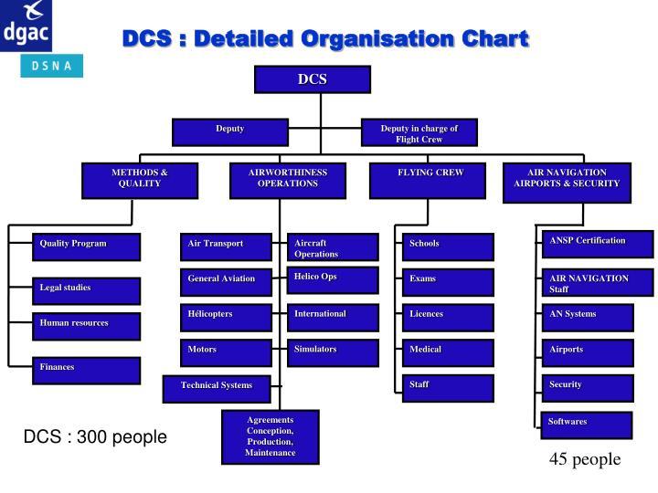 DCS : Detailed Organisation Chart